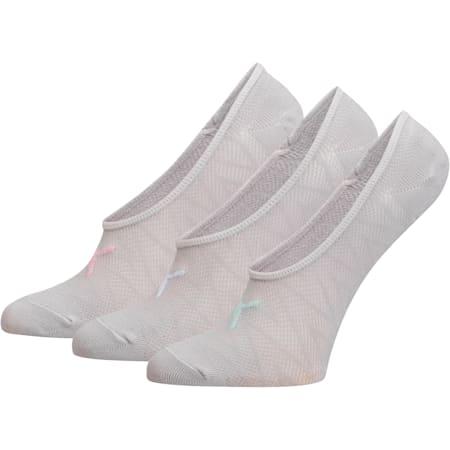 Women's Liner Socks [3 Pack], GREY / PURPLE, small